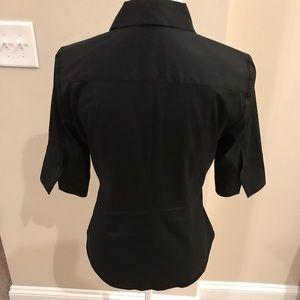 White House Black Market Tops - WHBM basic black button shirt.